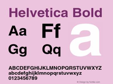 Helvetica Bold OTF 1.0;PS 003.000;Core 1.0.22 Font Sample