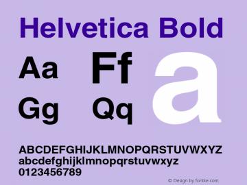 Helvetica Bold 001.007 Font Sample