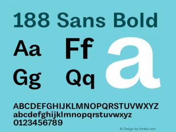 188 Sans Bold Bold Version 1.000;hotconv 1.0.109;makeotfexe 2.5.65596图片样张
