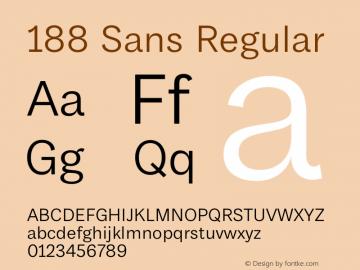 188 Sans Regular Version 1.000;hotconv 1.0.109;makeotfexe 2.5.65596图片样张