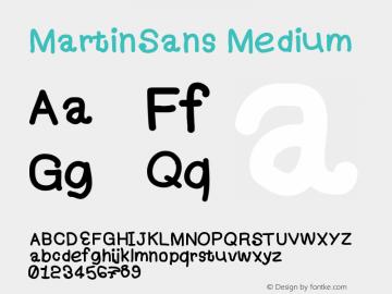 MartinSans Version 001.000图片样张