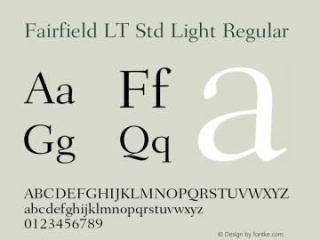 Fairfield LT Std Light Regular Version 1.040;PS 001.002;Core 1.0.35;makeotf.lib1.5.4492 Font Sample