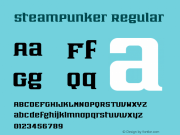 SteamPunker Regular Version 1.0图片样张