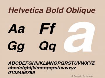 Helvetica Bold Oblique 001.007 Font Sample