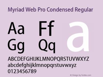 Myriad Web Pro Condensed Font,MyriadWebPro-Condensed Font,Myriad Web