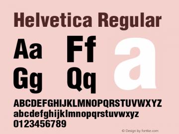 Helvetica Regular 003.000 Font Sample