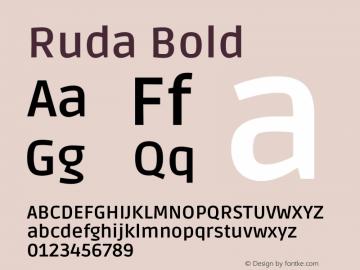 Ruda Bold Version 2.001图片样张
