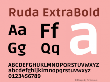 Ruda ExtraBold Version 2.001图片样张