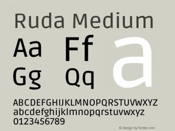 Ruda Medium Version 2.001图片样张