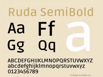 Ruda SemiBold Version 2.001图片样张