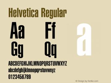 Helvetica Regular Version 001.000 Font Sample