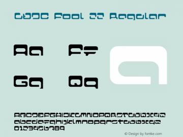 LVDC Fool 22 Regular Macromedia Fontographer 4.1J 04.1.25 Font Sample