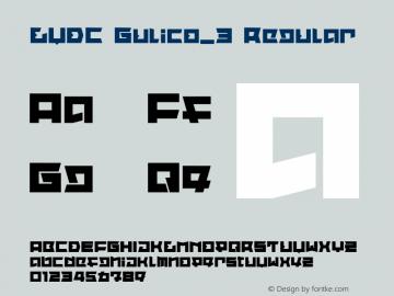 LVDC Gulico_3 Regular Macromedia Fontographer 4.1J 04.1.25 Font Sample