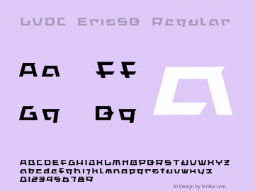 LVDC ErisSQ Regular Macromedia Fontographer 4.1J 04.1.26 Font Sample