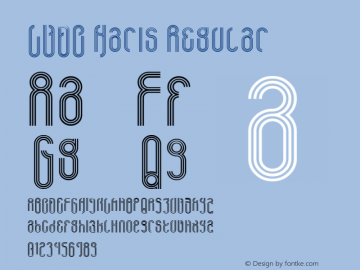 LVDC Haris Regular Macromedia Fontographer 4.1J 04.1.31 Font Sample