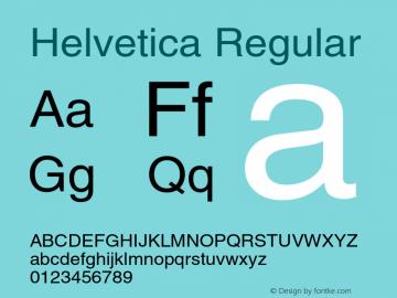 Helvetica Regular 001.006 Font Sample