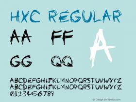 HXC Regular Version 0.9; July 2003 Font Sample