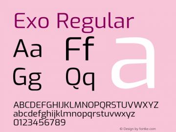 Exo Regular Version 2.000; ttfautohint (v1.8.3)图片样张