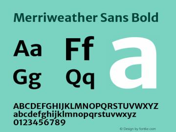Merriweather Sans Bold Version 2.000; ttfautohint (v1.8.3)图片样张