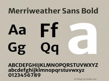 Merriweather Sans Bold Version 2.000图片样张
