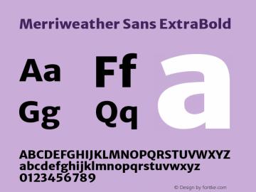Merriweather Sans ExtraBold Version 2.000; ttfautohint (v1.8.3)图片样张