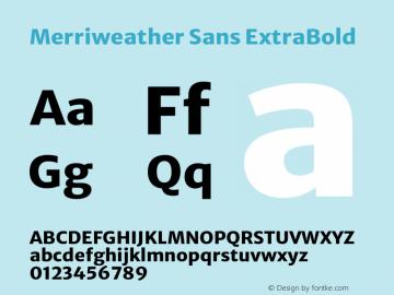 Merriweather Sans ExtraBold Version 2.000图片样张