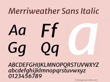 Merriweather Sans Italic Version 2.000图片样张