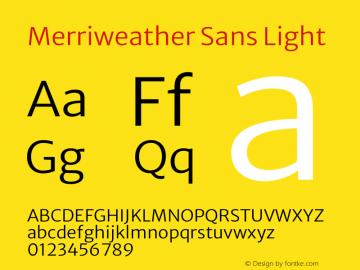 Merriweather Sans Light Version 2.000图片样张