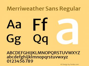 Merriweather Sans Regular Version 2.000; ttfautohint (v1.8.3)图片样张