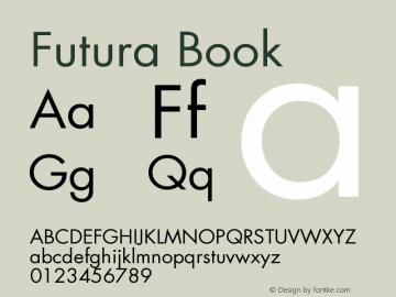 Futura Book Version 001.000 Font Sample