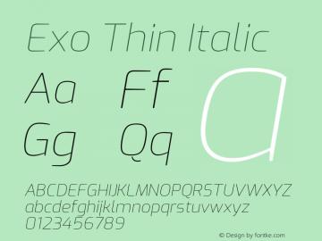 Exo Italic Version 2.001图片样张