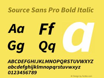 Source Sans Pro Bold Italic Version 1.095;hotconv 1.0.109;makeotfexe 2.5.65596图片样张