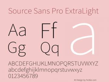 Source Sans Pro ExtraLight Version 2.045;hotconv 1.0.109;makeotfexe 2.5.65596图片样张