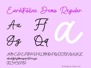 Earhtroline Demo Version 1.000;September 24, 2021;FontCreator 14.0.0.2794 64-bit图片样张