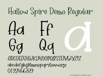 Hallow Spire Demo Version 1.000;September 21, 2021;FontCreator 14.0.0.2794 64-bit图片样张