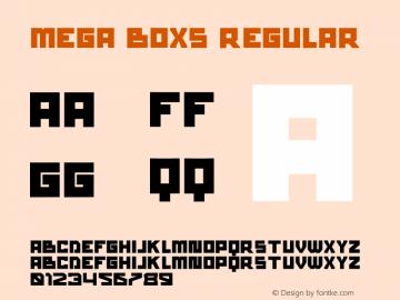 mega boxs Version 1.00;September 16, 2021;FontCreator 13.0.0.2683 32-bit图片样张