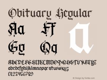 Obituary-Regular Version 1.000图片样张