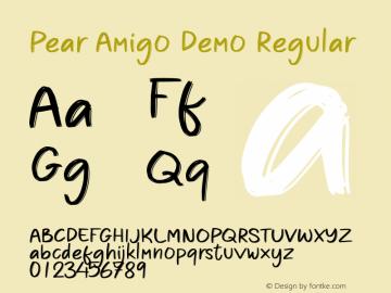 Pear Amigo Demo Version 1.000;September 23, 2021;FontCreator 14.0.0.2794 64-bit图片样张