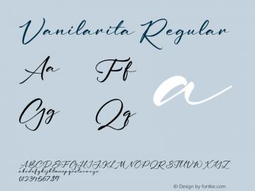 Vanilarita Version 1.00;September 17, 2021;FontCreator 13.0.0.2683 64-bit图片样张