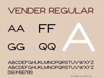 vender Version 1.00;September 14, 2021;FontCreator 13.0.0.2683 32-bit图片样张