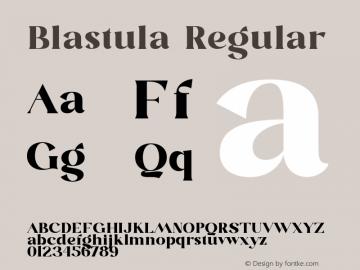 Blastula-Regular Version 1.001图片样张