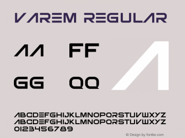 Varem Version 1.001;Fontself Maker 3.5.7图片样张