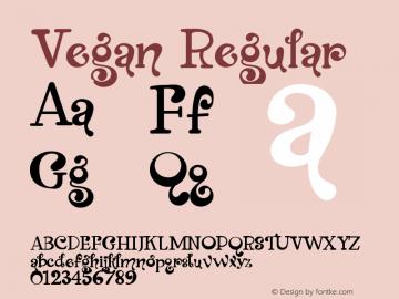 Vegan Version 1.021;Fontself Maker 3.5.7图片样张