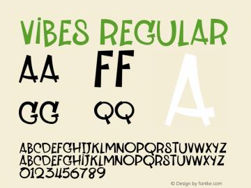 Vibes Version 1.012;Fontself Maker 3.5.7图片样张