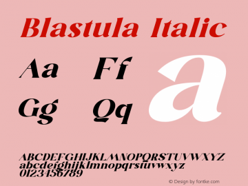 Blastula-Italic Version 1.001图片样张