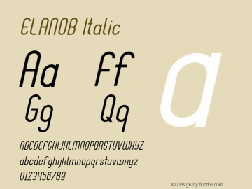 ELANOB-Italic Version 1.000图片样张