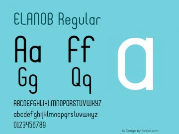 ELANOB-Regular Version 1.000图片样张