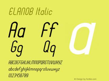 ELANOB Italic Version 1.000图片样张