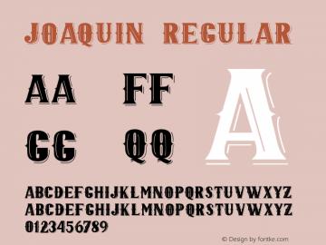 JOAQUIN Version 1.000;September 29, 2021;FontCreator 14.0.0.2794 64-bit图片样张