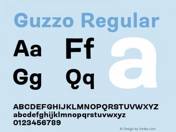 Guzzo Bold Version 1.00图片样张